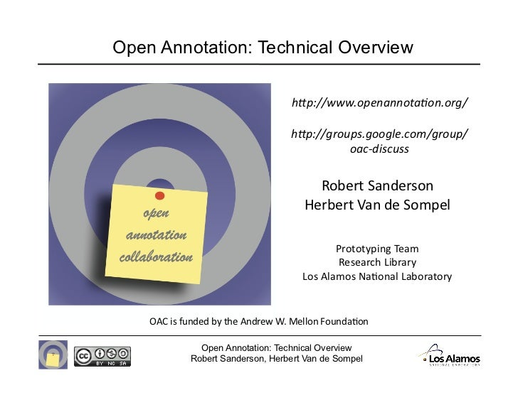 """Open Annotation: Technical Overview                                   h""""p://www.openannota-on.org/                       ..."""