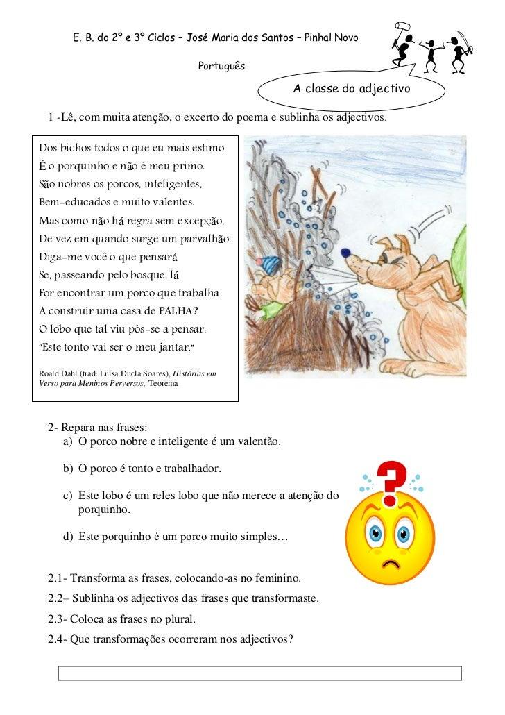 E. B. do 2º e 3º Ciclos – José Maria dos Santos – Pinhal Novo                                               Português     ...