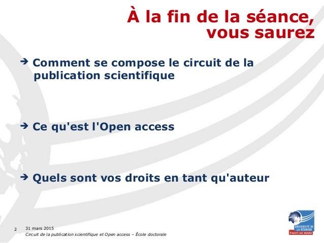 Circuit de la publication scientifique et Open Access Slide 2