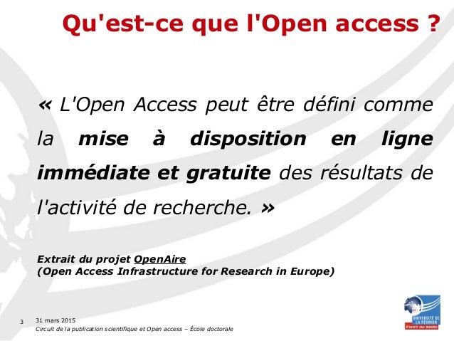 Circuit de la publication scientifique et Open Access Slide 3