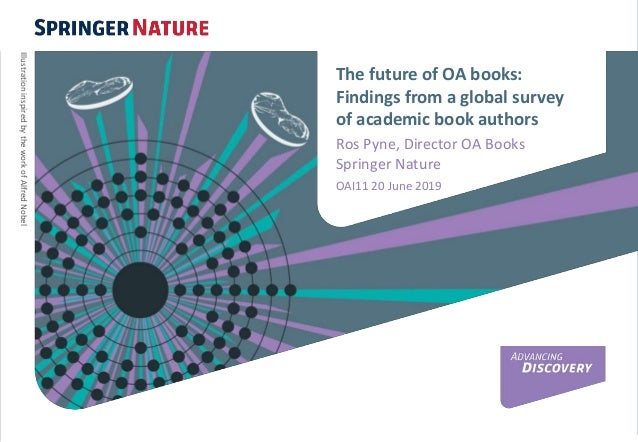 The future of OA books: Findings from a global survey of academic book authors Ros Pyne, Director OA Books Springer Nature...