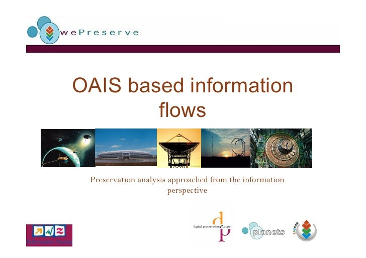 OAIS based information         flows    Preservation analysis approached from the information                        persp...