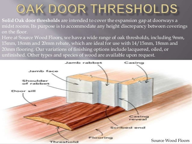 Buy online solid oak door thresholds products for Gap under exterior door threshold