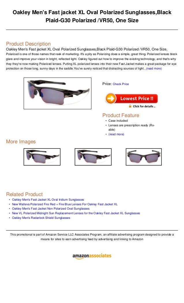3994ac3dd9 Oakley men s fast jacket xl oval polarized sunglasses