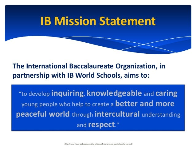 Oakridge International Baccalaureate Diploma Programme Pilot