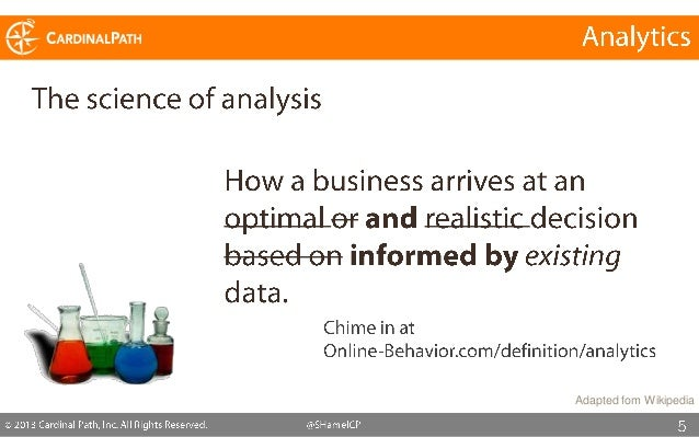 What is the objective of your current analytics program?