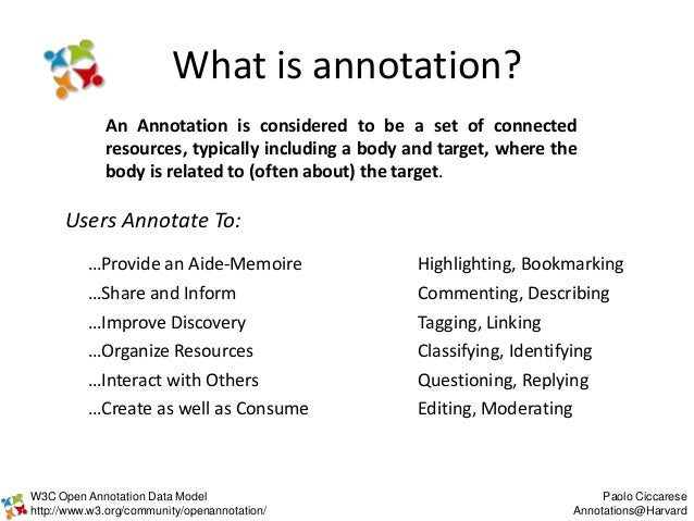 Open Annotation Model