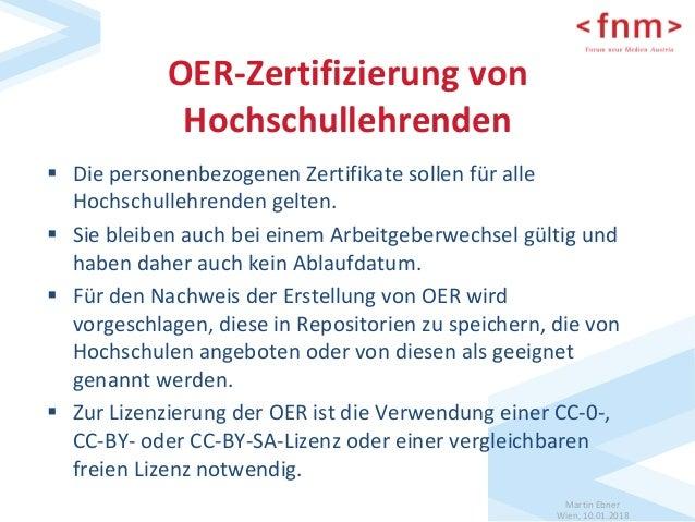 Konzept für die OER-Zertifizierung von Hochschulen