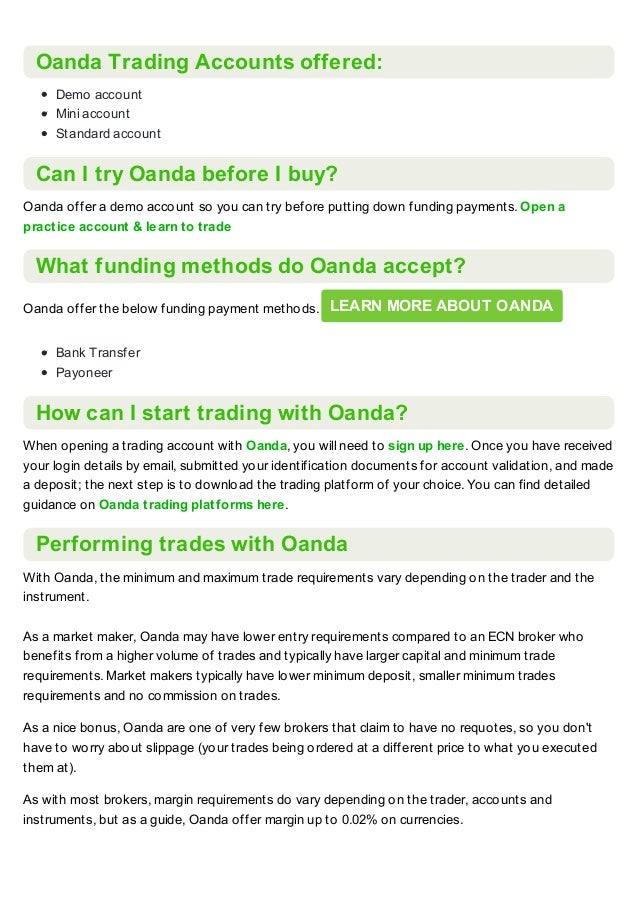 Oanda broker review