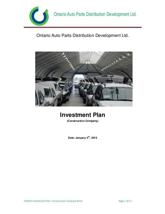 Ontario Auto Parts Distribution Development Ltd.          Ontario Auto Parts Distribution Development Ltd.                ...