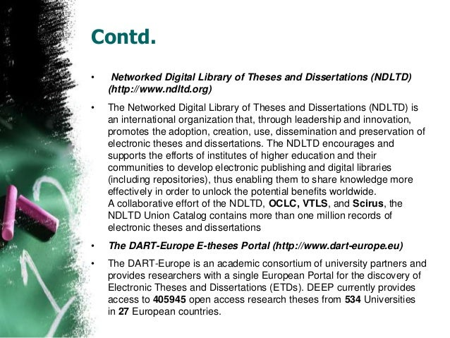 Digital thesis database australia