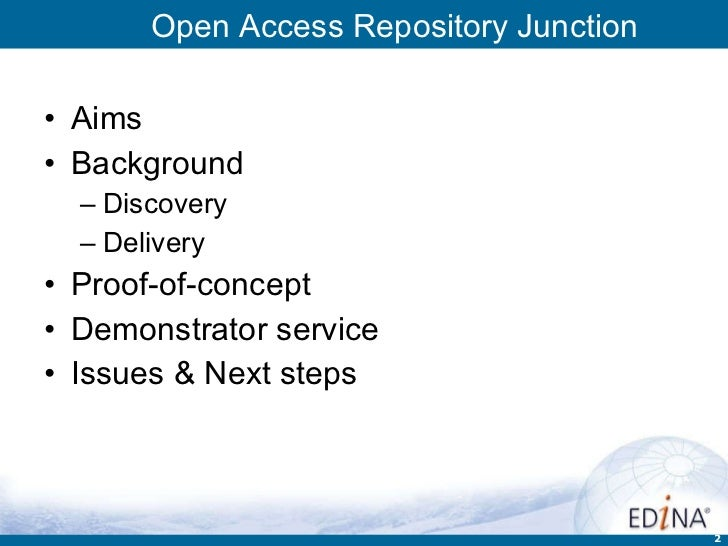 Open Access Repository Junction Slide 2