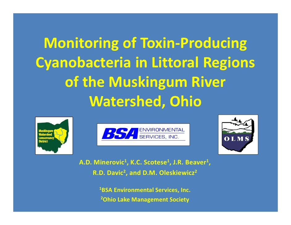 Monitoring of Toxin-ProducingCyanobacteria in Littoral Regions    of the Muskingum River        Watershed, Ohio      A.D. ...