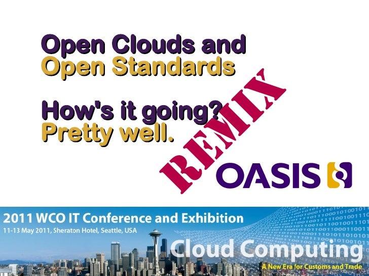 Oasis: Standards & the Cloud June2011 Slide 2