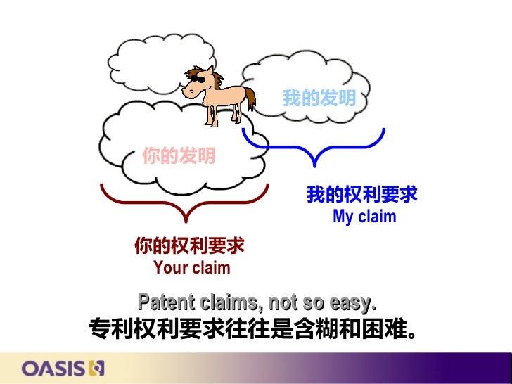 我的发明    你的发明                  我的权利要求                   My claim   你的权利要求    Your claim  Patent claims, not so easy.专利权利要求往...