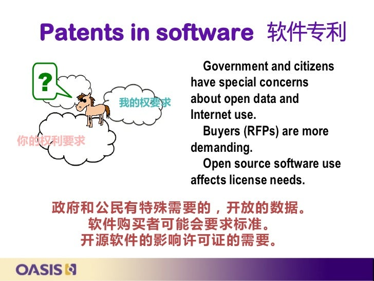 Patents in software 软件专利                    Government and citizens ?               have special concerns                 ...