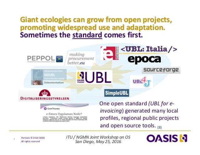 ITU/NGMNJointWorkshoponOS SanDiego,May25,2016 Portions© 2016OASIS Allrightsreserved Giantecologiescangro...