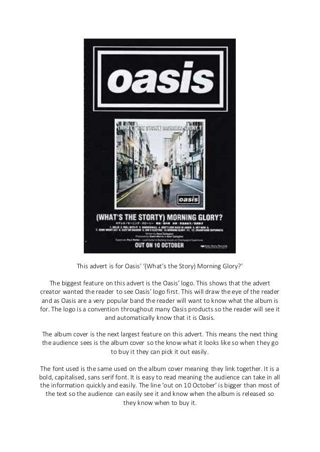 Oasis Advert Analysis