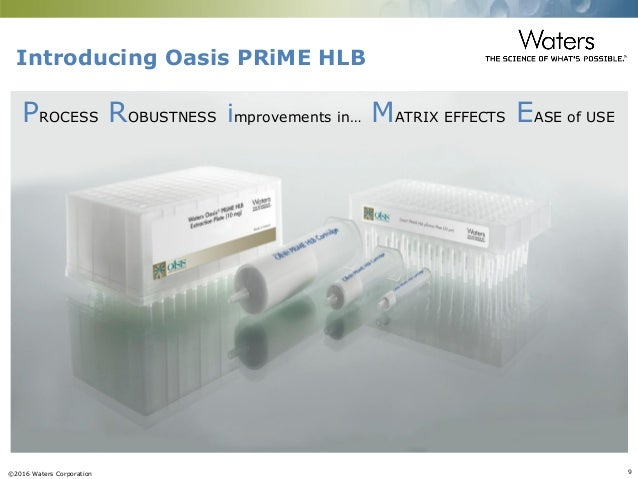 Oasis® Prime HLB - introducing a new sorbent for the sample cleanup o…