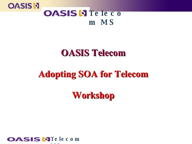 OASIS Telecom  Adopting SOA for Telecom  Workshop   Telecom MS