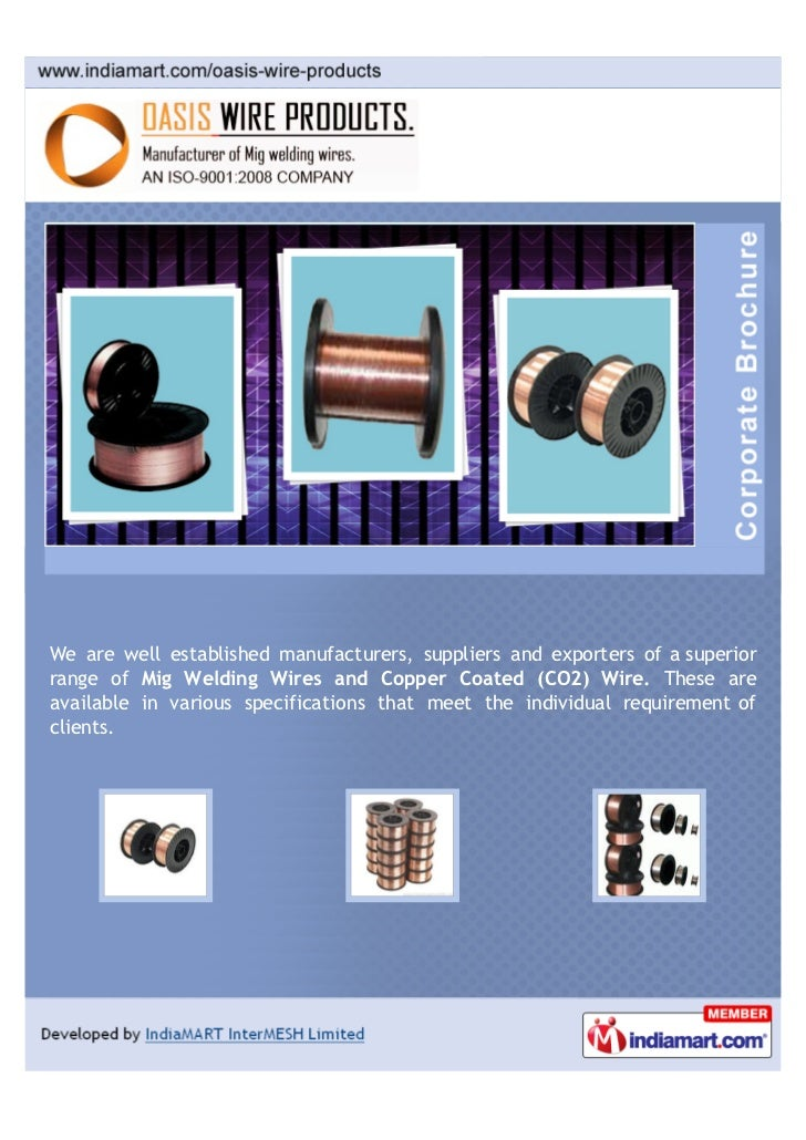 Oasis Wire Products, Mohali, MIG Wire