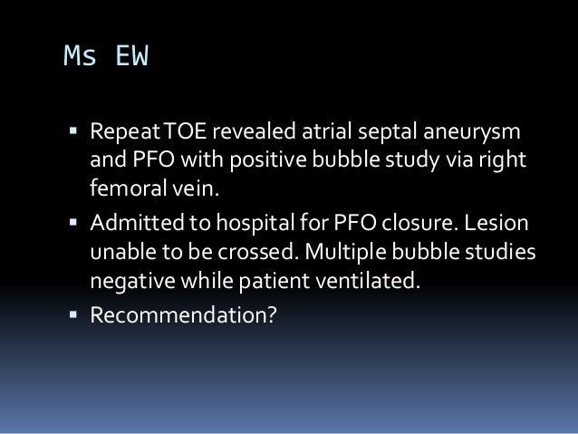 Pfo and bubble study