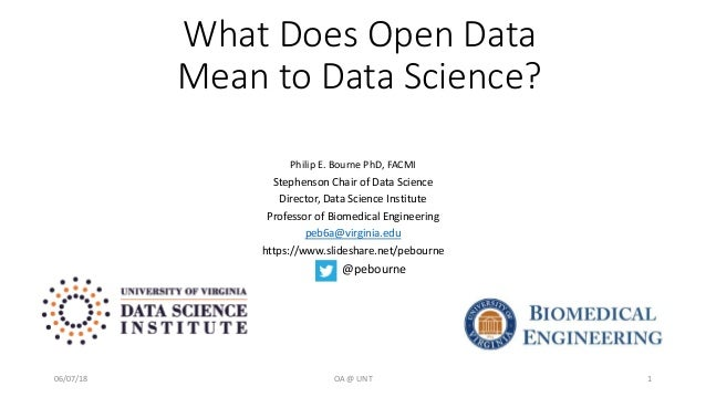What Does Open Data Mean to Data Science