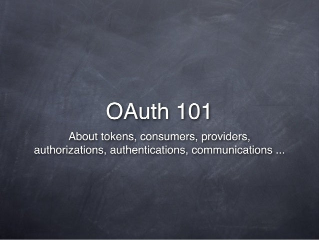 OAuth 101