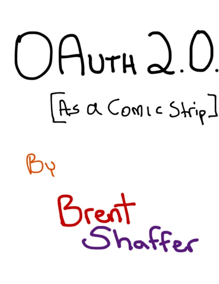OAuth 2.0 (as a comic strip)