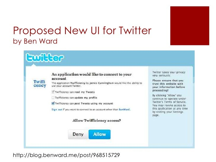 Proposed New UI for Twitterby Ben Wardhttp://blog.benward.me/post/968515729