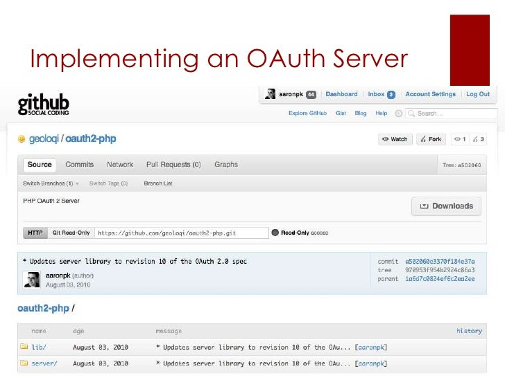 Implementing an OAuth Server
