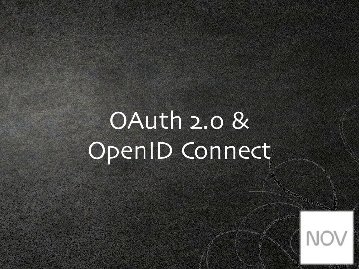 OAuth 2.0 &OpenID Connect