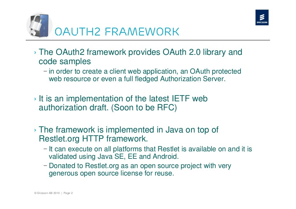 OAuth2 on Ericsson Labs