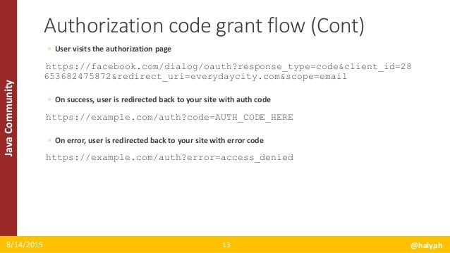 spring oauth2 authorization code example