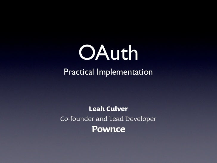 OAuth Practical Implementation