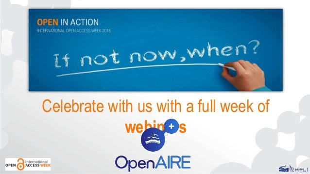 Celebrate with us with a full week of webinars