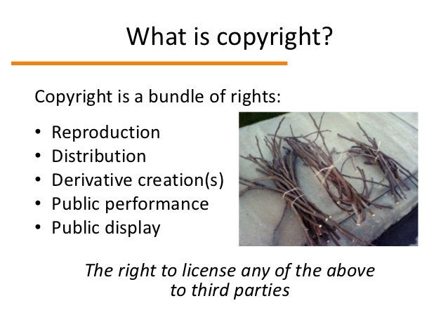 What copyright protectsCopyright protects…     Copyright doesn't protect…• Writing               • Ideas• Choreography    ...