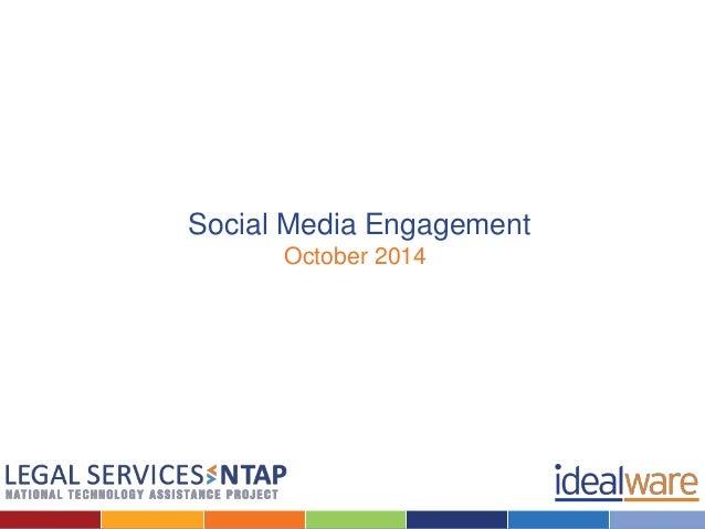 Social Media Engagement  October 2014