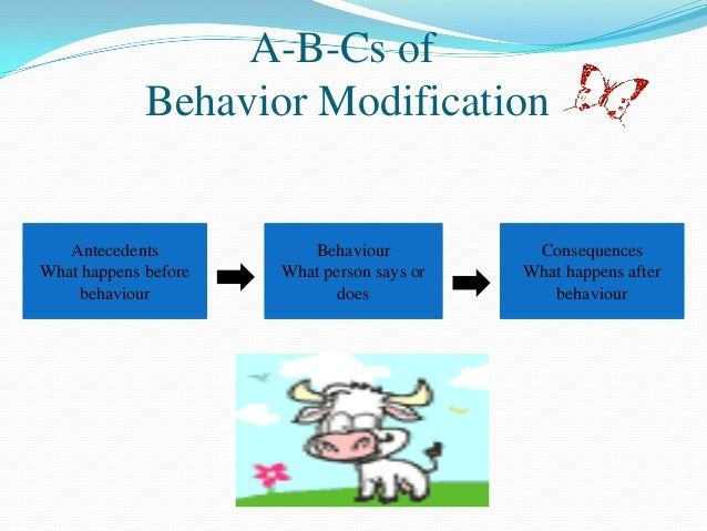 organizational behavior behavior modifications 5 a b cs of behavior modification