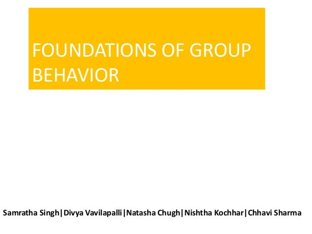 foundations of group behavior essay The brain & behavior research foundation has awarded more than $56 million to depression research since 1987.