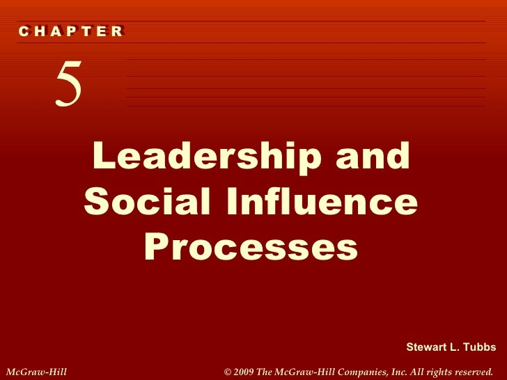 Leadership and Social Influence Processes