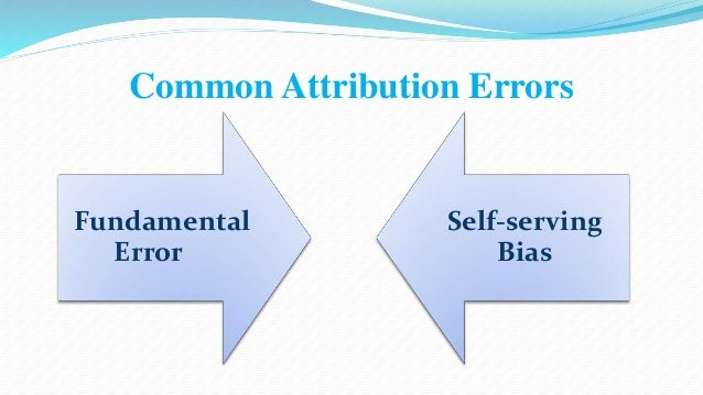 Common Attribution Errors  Fundamental  Error  Self-serving  Bias