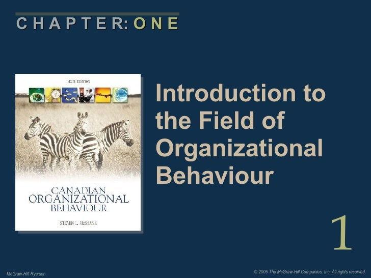 field of organizational behavior
