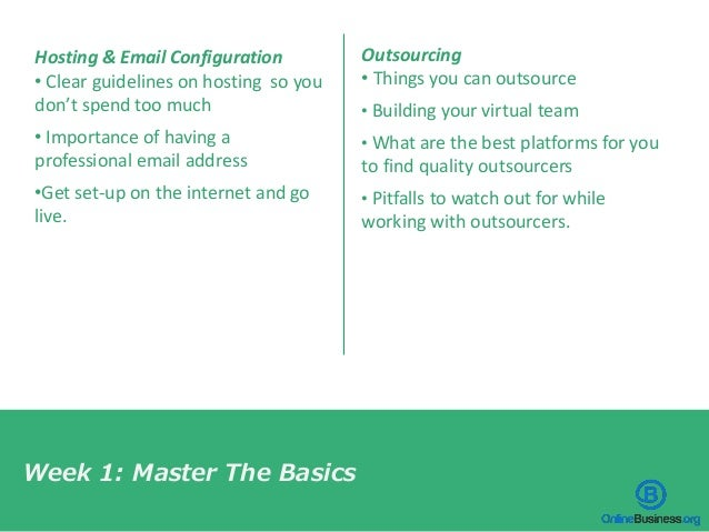Hosting & Email Configuration • Clear guidelines on hosting so you don't spend too much • Importance of having a professio...