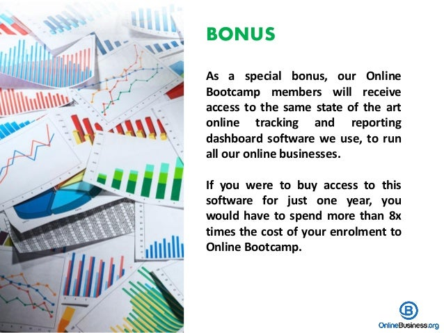 BONUS As a special bonus, our Online Bootcamp members will receive access to the same state of the art online tracking and...