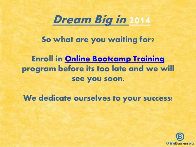So what are you waiting for? Enroll in Online Bootcamp Training program before its too late and we will see you soon. We d...