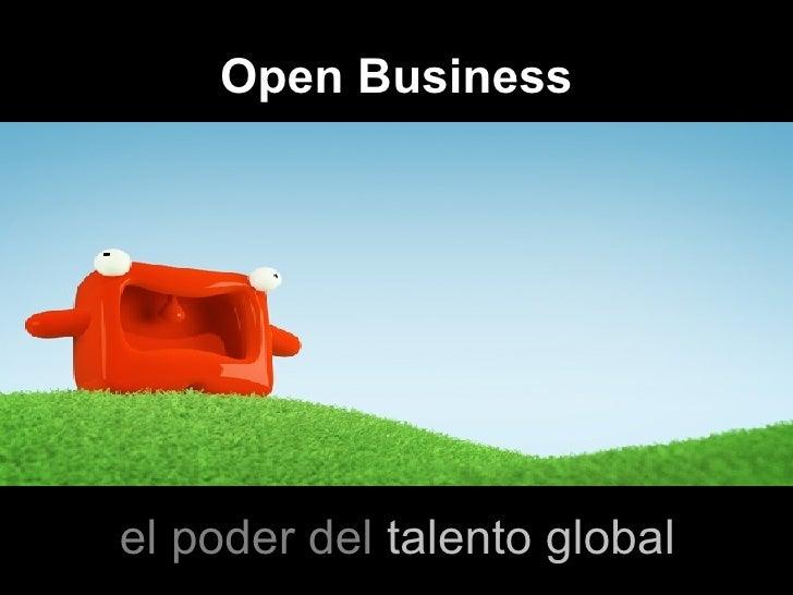 Open Business el poder del  talento global