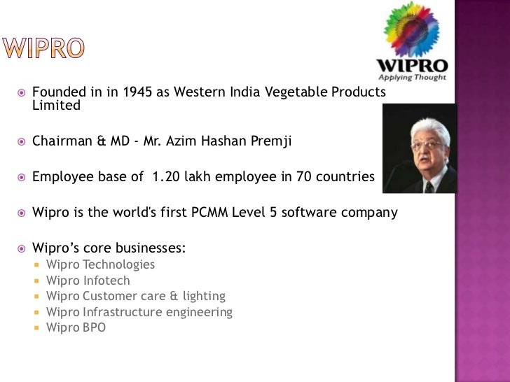 organisational structure of wipro W ipro, india's third-largest information technology services company, will soon announce a new organisational structure to provide the new chief.