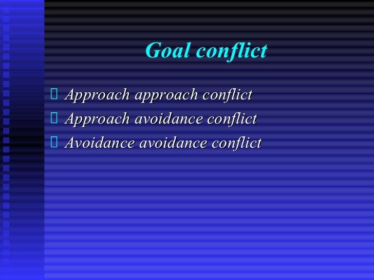 Goal conflictApproach approach conflictApproach avoidance conflictAvoidance avoidance conflict