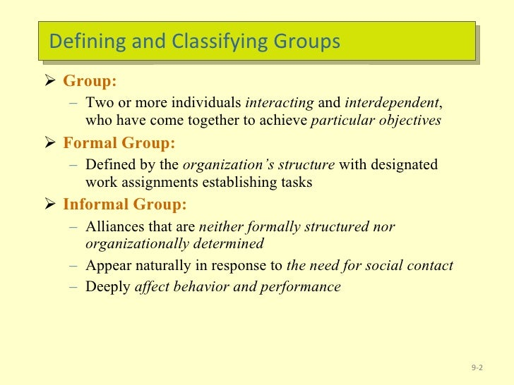 foundations of group behavior Here's a collection of quotes on the foundations of  anxiety group thursdays, april  of rational-emotive & cognitive behavior therapy (re&cbt) group members .